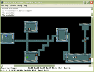 NetHack for Windows Screenshot 300x230 - Grab Bag: 1987 Video Games