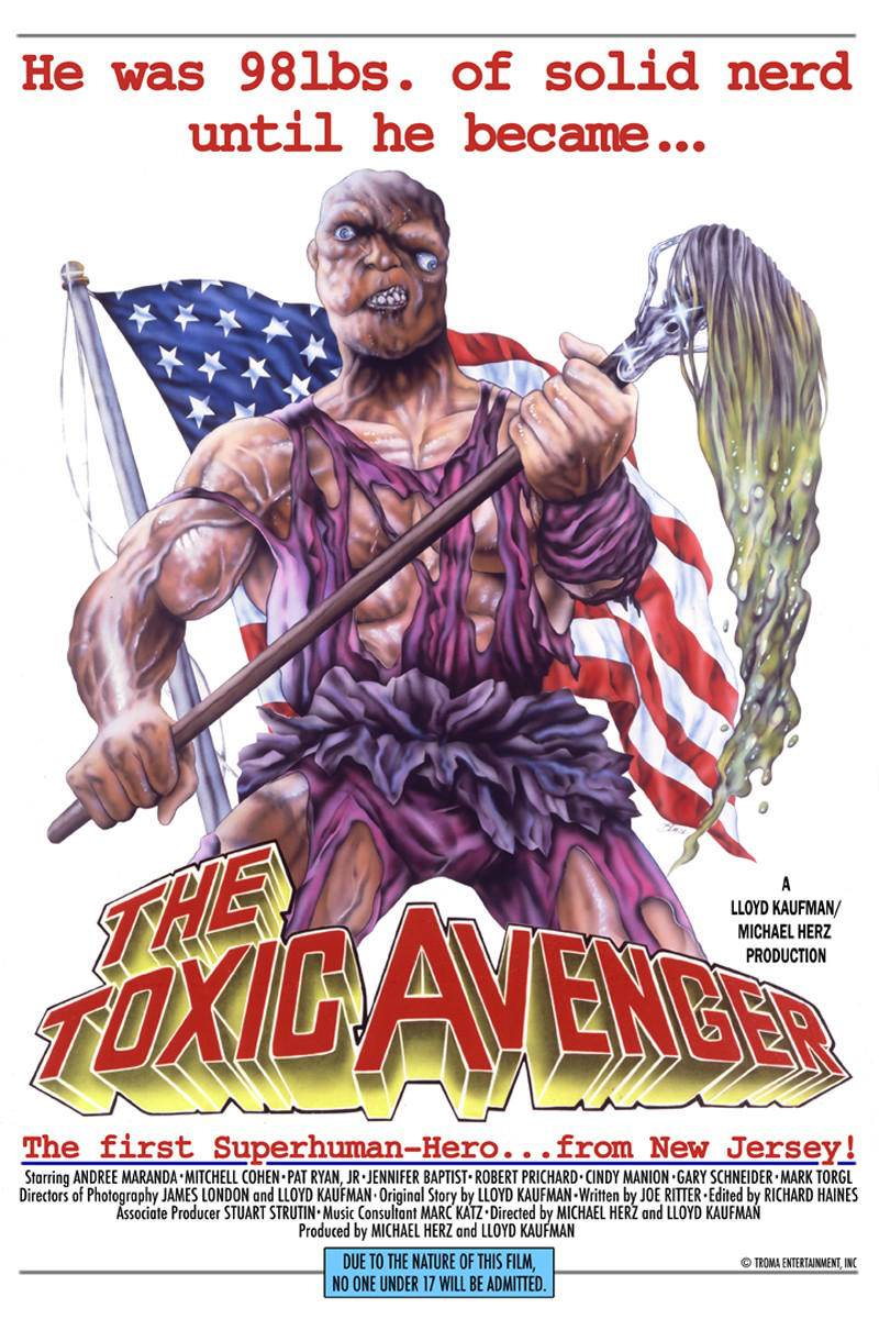 Toxic Avenger poster - Retro Movie Review - The Toxic Avenger