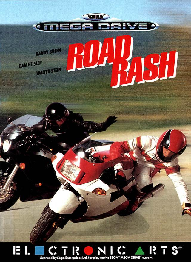 road rash box art - Road Rash (Electronic Arts, 1991)