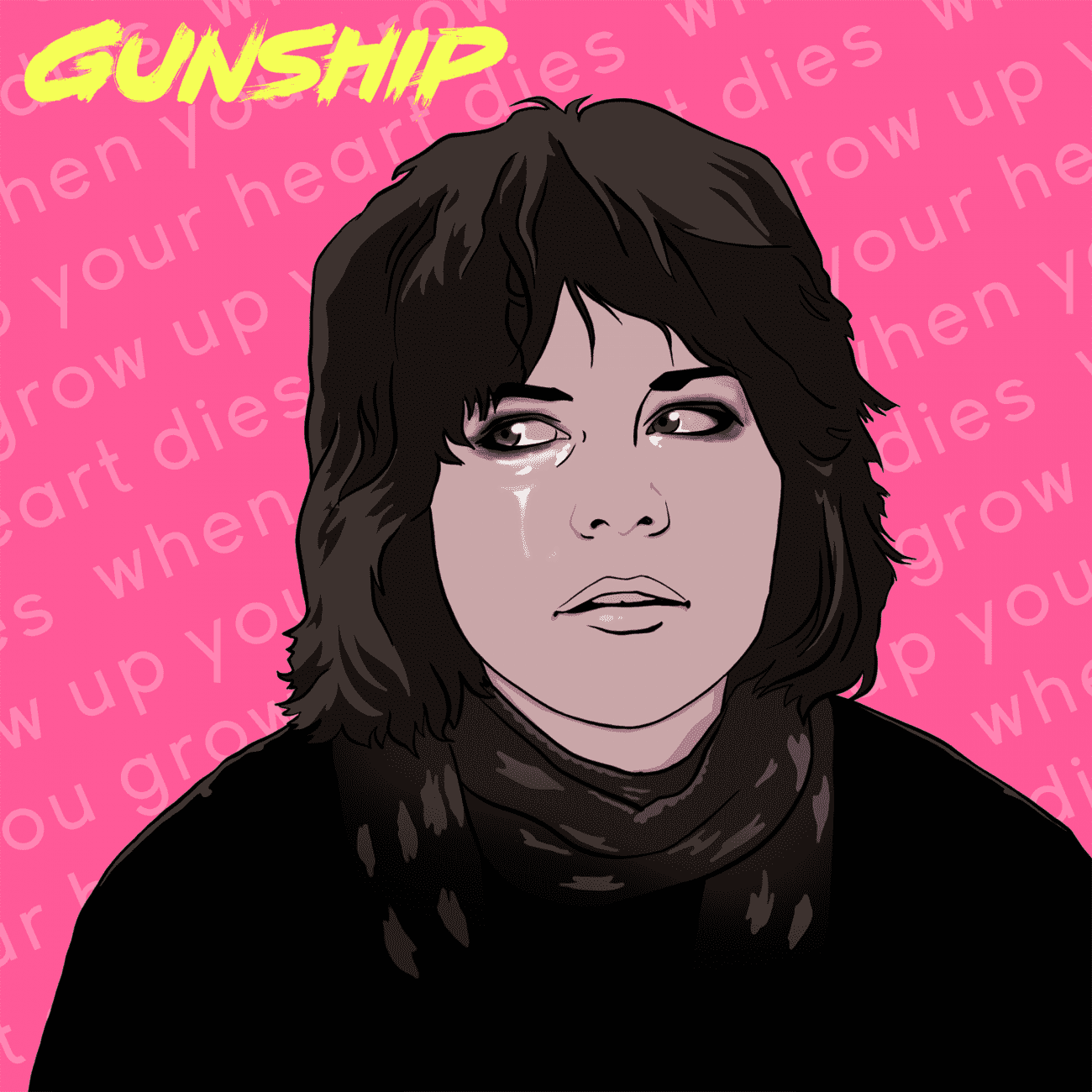 GUNSHIPHeartDiesCover01 1500x1500 1300x1300 - GUNSHIP - When You Grow Up, Your Heart Dies