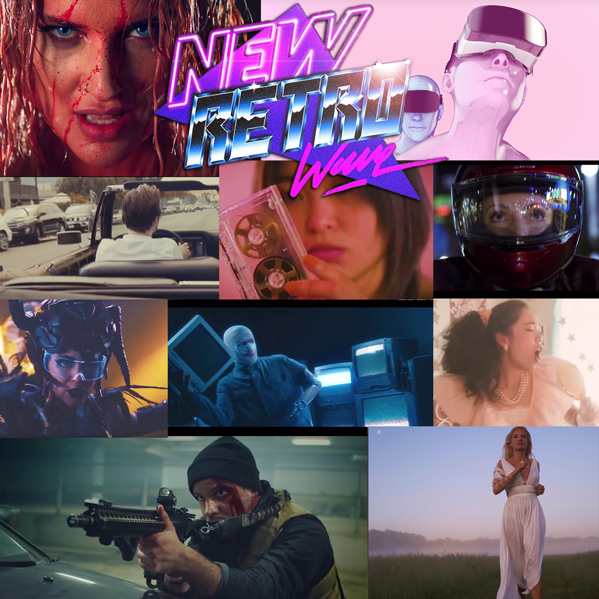 Top 10 Music Videos 2018 - Top Ten Retrowave Music Videos of 2018