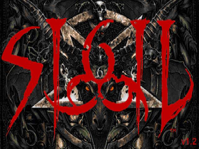 Sigil's opening screen. KVLT ANTI-HVMAN BLACK METAL