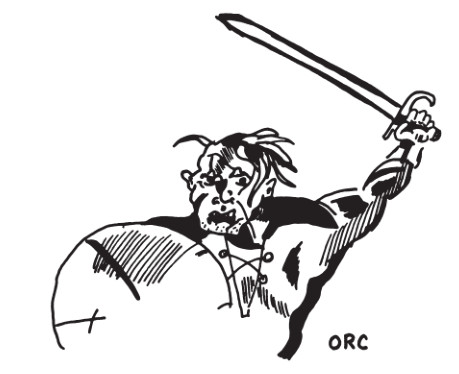 orc art - Tabletop Tower: Original Dungeons & Dragons (Tactical Studies Rules, 1974) Part 1