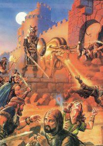 original colour art Dungeons Dragons 2nd Edition 2e DD bull firey nose cannons magic arrow 211x300 - original colour art-Dungeons-&-Dragons-2nd-Edition-2e-D&D bull firey nose cannons magic arrow