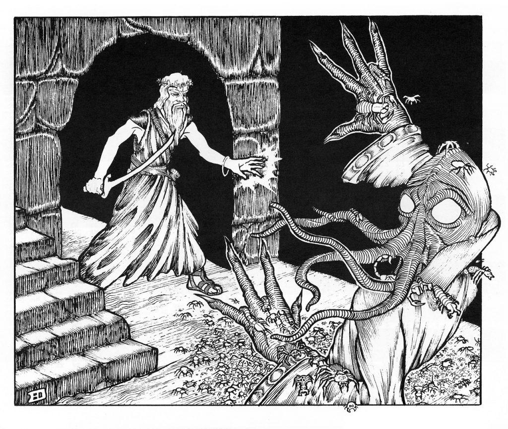 erol otus mind flayer bugs druid 1024x866 - Old School Dungeons & Dragons Artwork Gallery