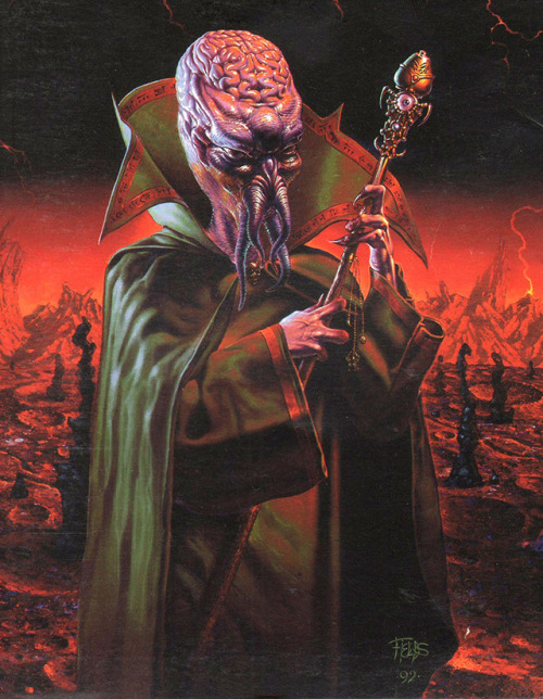 mind flayer fred fields - Old School Dungeons & Dragons Artwork Gallery