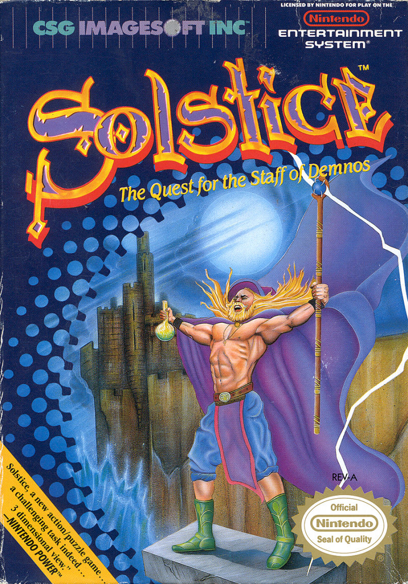 15623 solstice the quest for the staff of demnos nes 1990 - Box Art XI: Wrath of Neon Gandalf